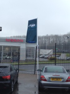 NIIB Flag at dealership