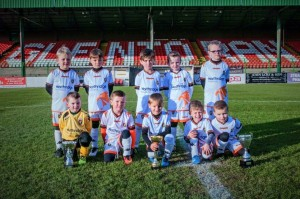 Glentoran Football Academy 2010 Year Group in their new away kits.